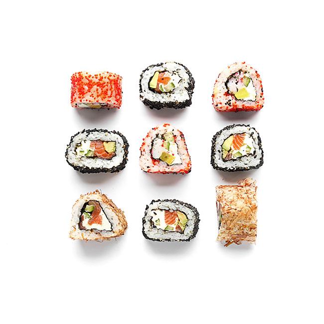 9 Sushi rullaa