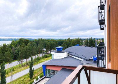 Näkymä Hotelli Kuohun parvekkeelta Vesijärvelle