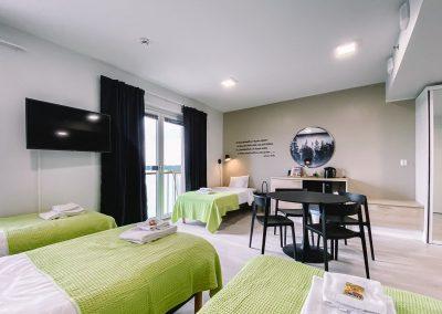Hotelli Kuohun 4-hengen huone